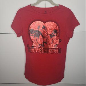 Mickey and Minnie Mouse Red Disney Tee Size Medium